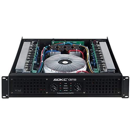 Best Buy! SOKC Amplificador trasero puro profesional de alta potencia dos canales HIFI 750W CB750