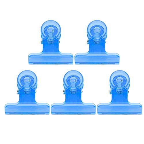 ANGGREK 5 pcs C Courbe Clou Extension Clips Poly Gel Rapide Construction Nail Conseils Clip En Plastique Extension Clip Ensemble(Bleu)