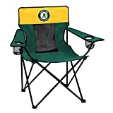 Logo Brands MLB Oakland Athletics Adult Elite Sporting Chair, Green/Yellow