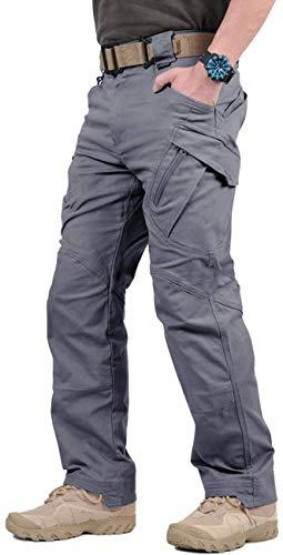 GooDoi Pantalones De Carga Pantalón Tactico Hombre PantalóN de Trabajo De Combate Pantalones Militares para Exteriores Acampar Senderismo Caminar