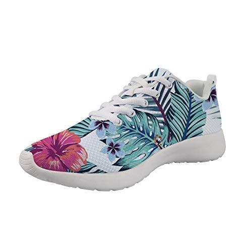 Amzbeauty, scarpe da ginnastica da donna, alla moda, traspiranti, per attività all'aria aperta, 2-8UK, (Fiore 2.), 40 EU
