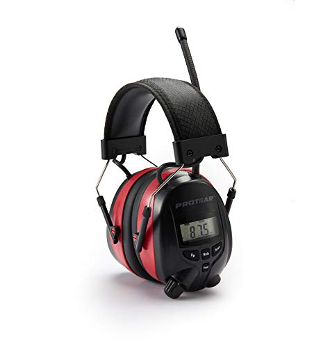 PROTEAR Gehörschutz mit Radio und Bluetooth, FM / AM-Digital-Radio und eingebautem Mikrofon, Wiederaufladbare Lärmschutz-Ohrenschützer für Arbeits-und Industrie, SNR 30dB