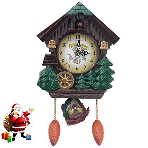 Reloj De Pared Con Forma De Casa, Reloj De Cuco, Campana De Pájaro Vintage, Reloj De Péndulo Para Sala De Estar Temporizador, Para Decoración De Navidad Artesanal, Reloj De Arte Artesanal, 8 Pulgadas
