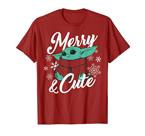 Star Wars The Mandalorian Christmas The Child Merry & Cute T-Shirt