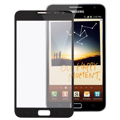 Displayglas voorglas vervanging LCD Touch glas ruit accessoires voor Samsung Galaxy Note 1 i9220 GT-N7000 zwart