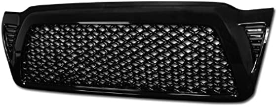 R&L Racing Glossy Black Finished Dragon Style Mesh Front Hood Bumper Grill Grille Cover 2005-2011 For Toyota Tacoma