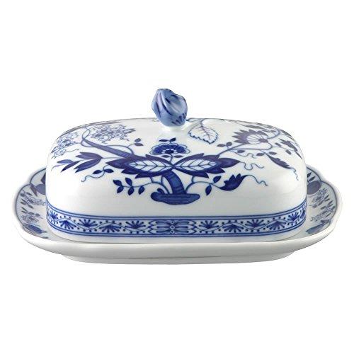 Hutschenreuther Vorteilset 4 Stück Blau Zwiebelmuster Blau Zwiebelmuster Butterdose 02001-720002-15169 und Gratis 1 x Trinitae Körperpflegeprodukt