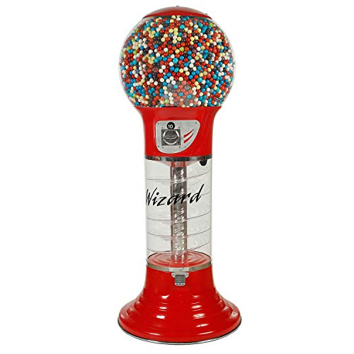 """Gumball Machine RED Large Vending Machine 5'6"""" $0.25 Giant Spiral Gumball Machine with Dispenser for Gumballs Bubble Gums Bouncy Balls Toy Capsules"""