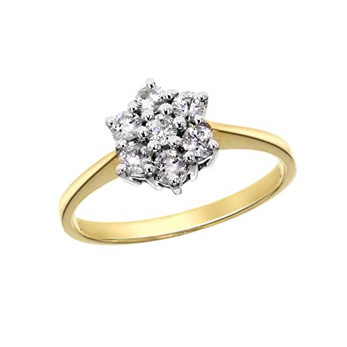 Aglaia 0,50ct 18 kt geelgoud diamanten ring
