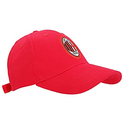 Ac Milan Official Core Football Crest Baseball Cap (one Size) (red)
