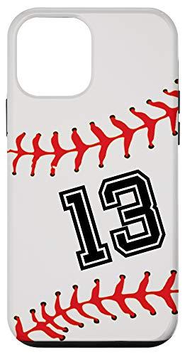 iPhone 12 mini Baseball Player #13 Back No 13 Baseball Pit Gadget Gift Case