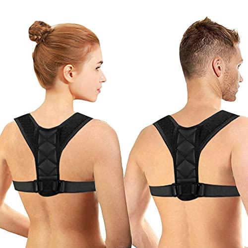 NewX Schultergurt Haltungskorrektur Rücken Gerade Halter für Männer und Frauen Rückenstrecker Haltungstrainer Rückenstütze Haltungskorrektur für Nacken Zurück Schulter