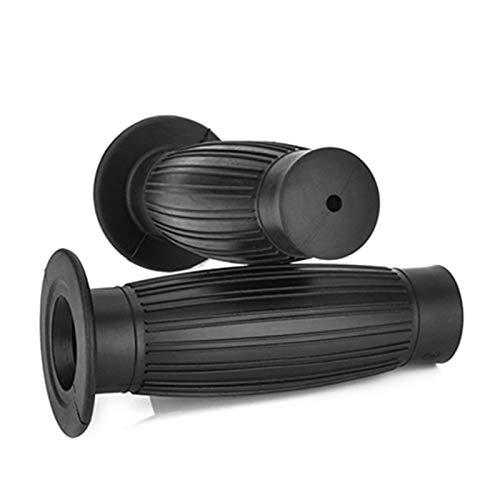 Empuñadura Moto 1 par de agarres de Manillar de Motocicleta de Goma Universal de 7/8' Acoples (Color : Negro)