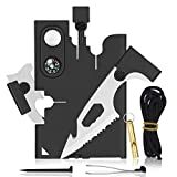 Credit Card Tool Multitool - Gifts for Dad from Daughter Son - 18 in 1 Tactical Multi-Tool, Stocking Stuffers Survival Wallet, Multitool Camping Accessories Tool