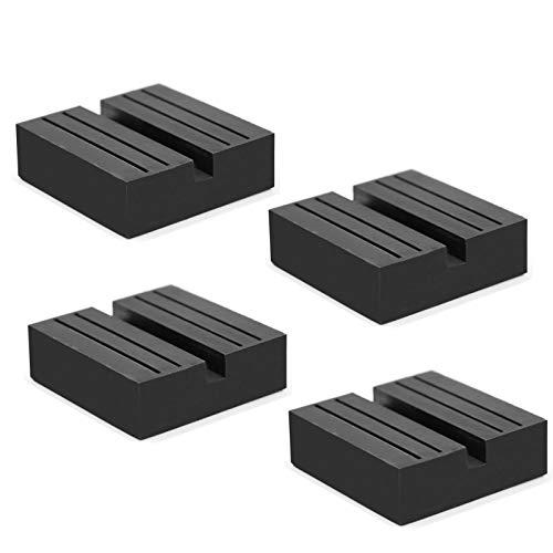 Hitter Jack Rubber Pad, Car Black Anti-Slip Rail Adapter Support Block Heavy Duty for Car Lift(4 pcs)