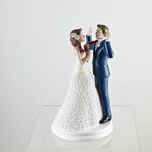 Dekora 305066 Lustiges Brautpaar Figur für Hochzeitstorte 20 cm, Schwarz/Weiß