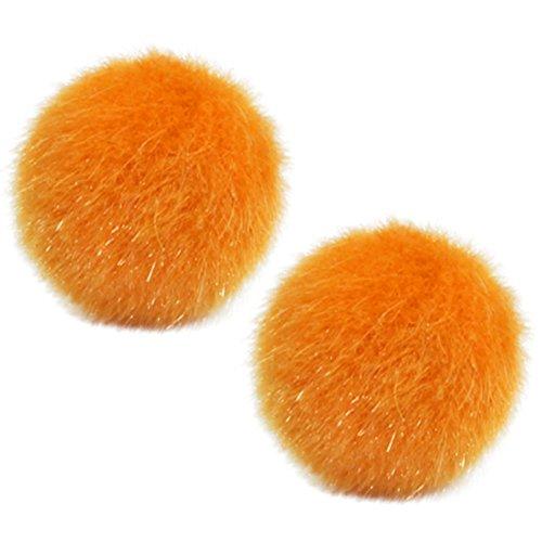The Funky Barcode Ohrstecker, flauschig, orange, in Geschenkbox erhältlich