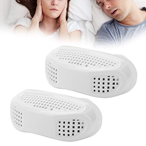 2pcs Dispositivo antirronquidos Respiración portátil Tapó