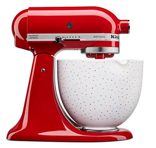 KitchenAid 4,7 L Keramikschüssel Zubehör für die Küchenmaschine 5KSM2CB5PCS (Confetti Sprinkle)
