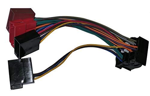 Aerzetix - ISO - Konverter - Adapter - Kabel Radioadapter Radio Kabel RNS-E-Navigation Stecker ISO-Kabel Verbindungskabel