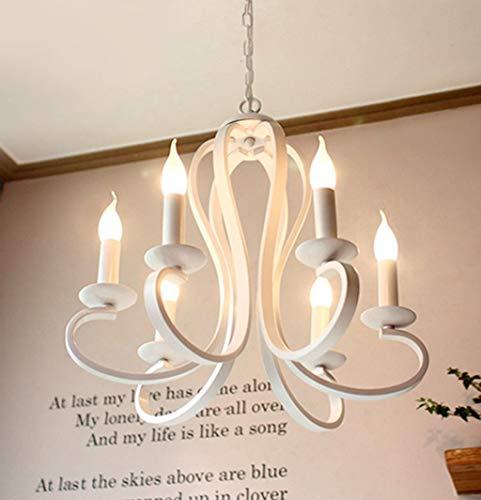 IREANJ Lámparas colgantes o pendiente de la luz Fixtur 3627) comedor dormitorio Sala de estar de la lámpara, blanca (Color : White)