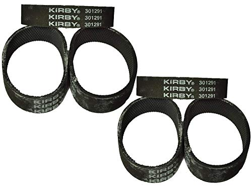 Replacement for Kirby Vacuum Cleaner Belts 301291 All Generation Series Models G3, G4, G5, G6, G7, Ultimate G, and Diamond Edition (6 Belts)