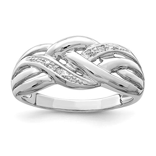 925 Sterling Silver Diamond Band Ring Size 6.00 Fine Jewelry For Women Gifts For Her