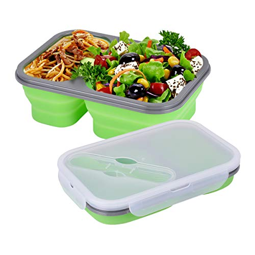 Hivexagon Recipiente Plegable de Silicona para Almacenamiento de Alimentos, Contenedor para Almuerzo...