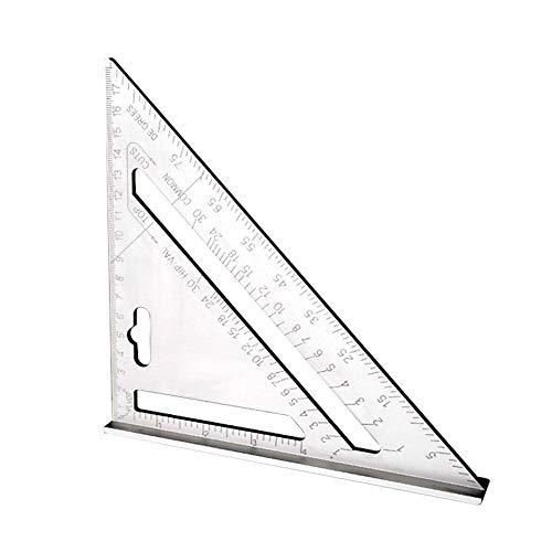 7 Zoll Dreieck Lineal, 7 Zoll Dreieck Winkelmesser, Aluminium Dreieck Lineal, Silber Aluminiumlegierung Hochpräzises Dreieck Lineal Für Messlineal Werkzeug (Metrisch)