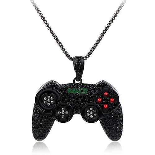 LHXMY Consola De Juegos Mango Collar Colgante Cristal Completo Rhinestone Collar De...