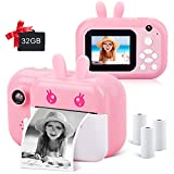 Instant Camera for Kids, MINIBEAR Kids Digital Camera 2.4 Inch 1080P HD Screen 40MP Video Camera for Girls Toy Camera, Child Selfie Camera Toddler Camera Kids Camcorder with 32GB TF Card (Pink)
