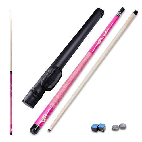 LMDX Bar Billiard Cue Sticks 2 piece Maple Pool Sticks 147cm Strong And Straight For Sports And Fitness Game Handmade Classic Solid Wood Pattern Unisex Snooker Cues