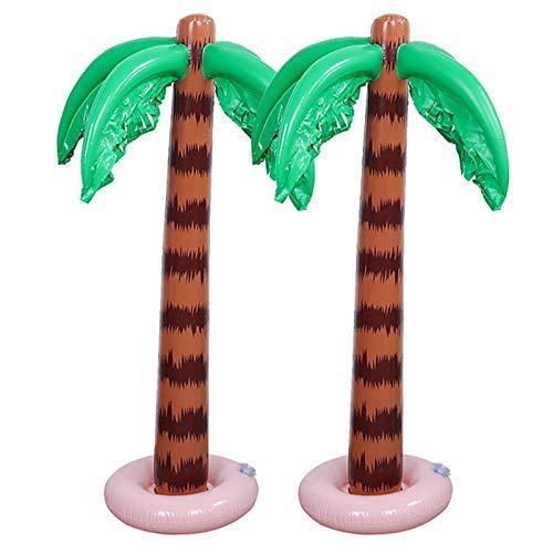 ZJJX Palmiers gonflables 90 cm - Palmier hawaïen tropical - Décoration de fête