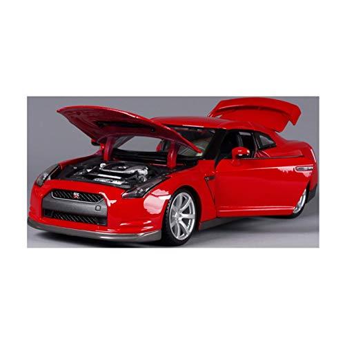 DXZJ Coche deportivo de aleación 1:18 para Nissan Gtr con control del volante de dirección delantera (color rojo, tamaño: A)
