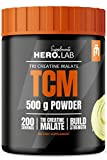 Hero.Lab TCM - 1 Pack - Tri Creatine Malate - Muscle Strength Enhance - Easily Digestible - in Greatly Soluble Powder Form (Lemon, 500g)