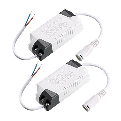sourcing map Controlador de LED de alta potencia conector DC fuente de alimentación de 300 mA de corriente constante 18-25W(2pcs)