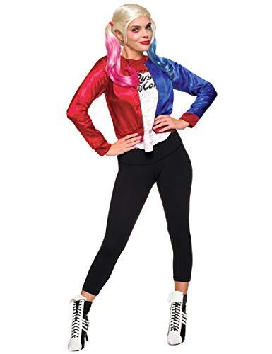 Generique Disfraz chaqueta y camiseta adulto Harley Quinn - Escuadrón Suicida M