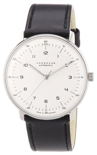 Junghans Herren-Armbanduhr XL Max Bill Automatic Analog Automatik Leder 027/3500.00