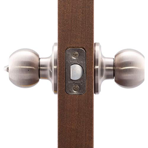 Copper Creek BK2030SS Ball Privacy Door Knob, Satin Stainless