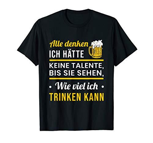 Lustig Bis sie sehen wie viel ich trinken kann Spruch Bier T-Shirt
