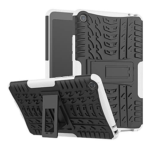 JIAHENG Caja de la Tableta Cubierta de la Tableta para la Funda Protectora a Prueba de choques TPU + PC de la Textura de la Textura de la Textura del neumático con Soporte Plegable PU de Cuero