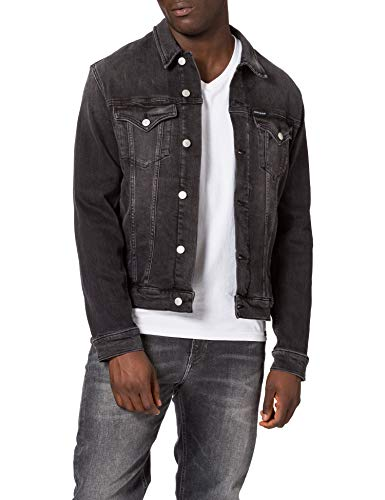 Calvin Klein Jeans Foundation Jacket Giacca, Denim Nero, 2XL Uomo