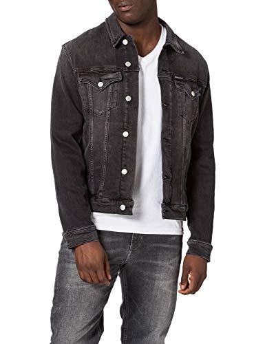 Calvin Klein Jeans Foundation Jacket Chaqueta, Denim Negro, L para Hombre