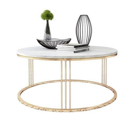 BHJqsy Kleiner runder Tisch des hölzernen runden Couchtischtabellenwohnzimmers schwarzer...