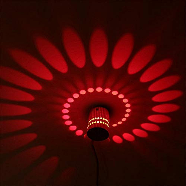 YLCJ LED Wand Lichteffekt Licht Halle Lampe 3W Wandleuchte Wand Licht Sonne Streulicht AC 220V (rot)