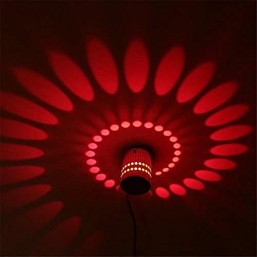 YLCJ 3W LED wandlamp halogeen effect wandlamp Flare Light AC 220V (rood)