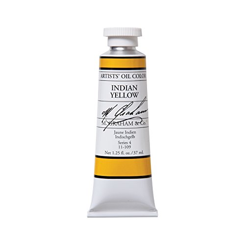 M. Graham Artist Oil Paint Indian Yellow 1.25oz/37ml Tube