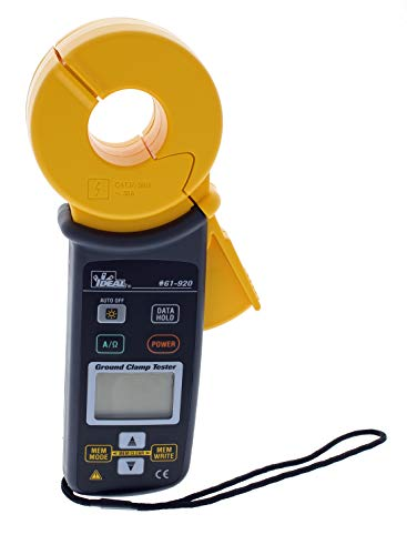 Ideal Industries 61-920 Ground Resistance Clamp Meter, Black