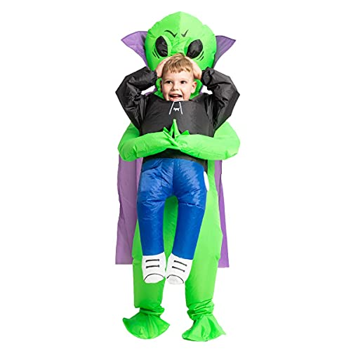 GOOSH 55 Inch Inflatable Costume for Kids, Halloween Costumes Boys Girls Alien Holding a Human, Blow...
