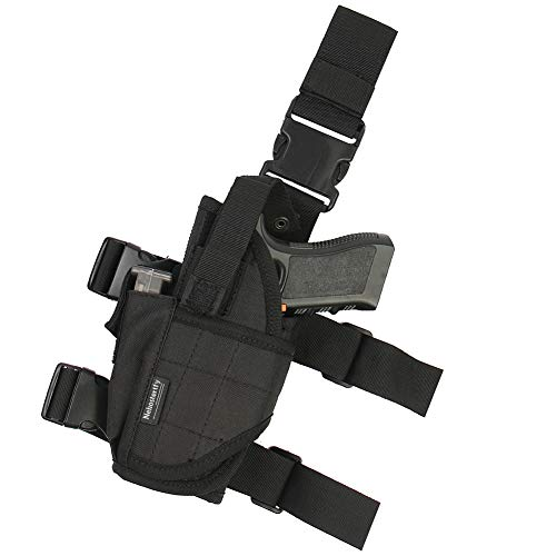 Drop Leg Holster, Left Handed Adjustable Tactical Thigh Pistol Gun Holster Leg Harness